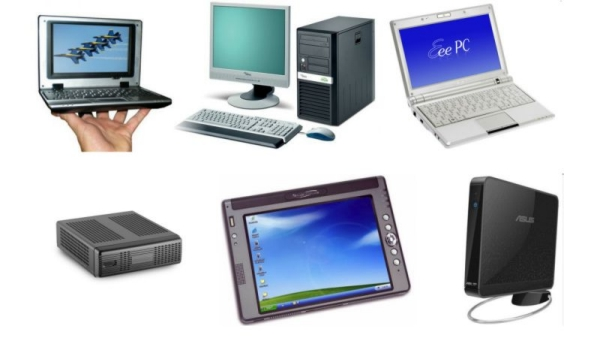 Different types of computer.